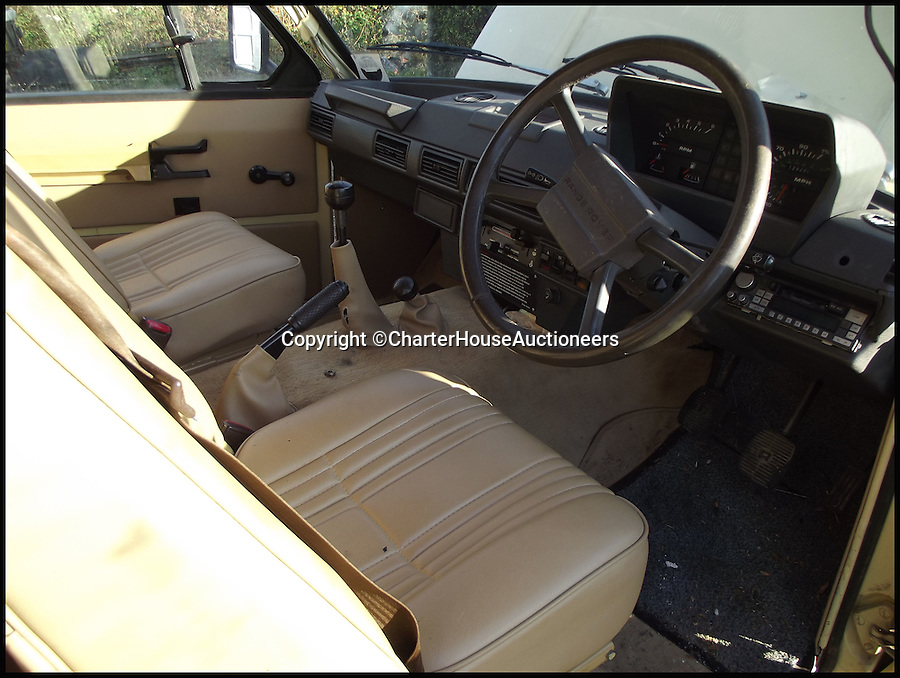 BNPS.co.uk (01202 55833)<br /> Pic: CharterHouseAuctioneers/BNPS<br /> <br /> ***Please Use Full Byline***<br /> <br /> The driving seat and sterring wheel of the 1970 Range Rover Velar.<br /> <br /> An incredibly rare prototype of the very first Range Rover model has emerged for sale for &pound;30,000 more than 40 years after it was built.<br /> <br /> The much-lauded motor was one of just 40 initially built under the codename Velar, a brand set up by Land Rover to develop their now iconic Range Rover model in the late 60s.<br /> <br /> The Velar for sale - the 38th of the 40 made - is tipped to fetch &pound;30,000 when it goes under the hammer at Charterhouse Auctions in Sherborne, Dorset.