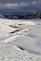 WY00455-00...WYOMING - Snow covered  Lamar Valley in Yellowstone National Park.