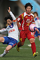 (L to R) Arina Yamamoto (Albirex Ladies), Megumi Takase (Leonessa), JANUARY 1, 2012 - Football / Soccer : The 33th All Japan Women's Football Championship final match between INAC Kobe Leonessa 3-0 Albirex Ladies at National Stadium in Tokyo, Japan. (Photo by Akihiro Sugimoto/AFLO SPORT) [1080]