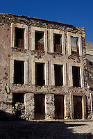 Abandoned buildings in the 19th-century mining town of Real de Catorce, Mexico. Real de Catorce became a virtual ghost town during the early part of the 20th century. It has recently become a popuar destination for travellers.