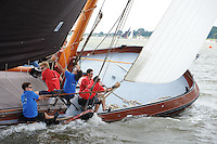 ZEILEN: LEMMER: Lemster baai, 30-07-2014, SKS skûtsjesilen, winnaar skûtsje Doarp Grou, ©Martin de Jong