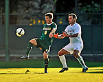 22 September 2008: University of Vermont Catamounts' midfielder/forward Jordan Crasilneck, a Senior from Eugene, OR, in action against the Colgate University Raiders at Centennial Field, in Burlington, Vermont. The Raiders edged out the Catamounts 2-1, handing the Soccer Catamounts their first home loss of the 2008 season. ..Mandatory Photo Credit: Ed Wolfstein Photo