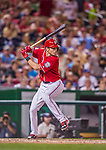 22 August 2015: Washington Nationals infielder Trea Turner pinch hits in the 9th inning against the Milwaukee Brewers at Nationals Park in Washington, DC. The Nationals defeated the Brewers 6-1 in the second game of their 3-game weekend series. Mandatory Credit: Ed Wolfstein Photo *** RAW (NEF) Image File Available ***