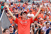 Sept. 3, 2011 - Charlottesville, Virginia - USA; Virginia Cavaliers fans during an NCAA football game against William & Mary at Scott Stadium. Virginia won 40-3. (Credit Image: © Andrew Shurtleff