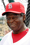 14 March 2007: St. Louis Cardinals Hall of Fame outfielder Lou Brock watches the St. Louis Cardinals take batting practice prior to facing the Washington Nationals at Roger Dean Stadium in Jupiter, Florida...Mandatory Photo Credit: Ed Wolfstein Photo