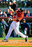 2 March 2009: Houston Astros' right fielder Brian Bogusevic breaks his bat, but gets an RBI single during a Spring Training game against the New York Yankees at Osceola County Stadium in Kissimmee, Florida. The teams played to a 5-5, 9-inning tie. Mandatory Photo Credit: Ed Wolfstein Photo