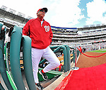 12 April 2012: Washington Nationals Manager Davey Johnson is introduced on Opening Day prior to facing the Cincinnati Reds at Nationals Park in Washington, DC. The Nationals defeated the Reds 3-2 in 10 innings to take the first game of their 4-game series. Mandatory Credit: Ed Wolfstein Photo