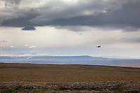 Coyote air de Havilland beaver bush plane, Utukok uplands, National Petroleum Reserve Alaska, Arctic, Alaska.