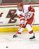Jenn Wakefield (BU - 9) - The Northeastern University Huskies tied Boston University Terriers 3-3 in the 2011 Beanpot consolation game on Tuesday, February 15, 2011, at Conte Forum in Chestnut Hill, Massachusetts.