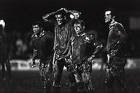 Pix:Michael Steele/SWpix...Leigh v Leeds. Rugby League. From the book 'When Push Comes to Shove'....COPYRIGHT PICTURE>>SIMON WILKINSON..Glorious Mud, Leigh v Leeds.