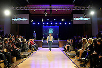 Sanorita AweSUMO, New Zealand Eco Fashion Exposed, Eco Designer Runway at Notre Dame Performing Arts Centre, Lower Hutt, New Zealand on Saturday 26 July 2014. <br /> Photo by Masanori Udagawa. <br /> www.photowellington.photoshelter.com.