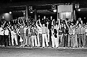 Manifesta&ccedil;ao de motoristas de onibus em greve. S&atilde;o Paulo. 1979. Foto de Juca Martins.