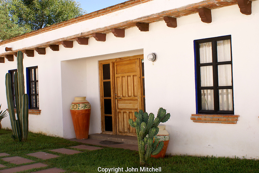 Restored house  in the 19th century mining town of Mineral de Pozos, Guanajuato, Mexico.