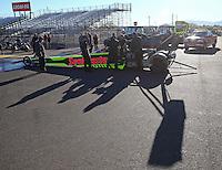 Feb 4, 2016; Chandler, AZ, USA; Crew members with NHRA top fuel driver J.R. Todd during pre season testing at Wild Horse Pass Motorsports Park. Mandatory Credit: Mark J. Rebilas-USA TODAY Sports