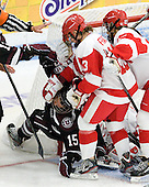 Christine Valente (Union - 15), Kaleigh Fratkin (BU - 13), Jordan Juron (BU - 27) - The Boston University Terriers defeated the visiting Union College Dutchwomen 6-2 on Saturday, December 13, 2012, at Walter Brown Arena in Boston, Massachusetts.