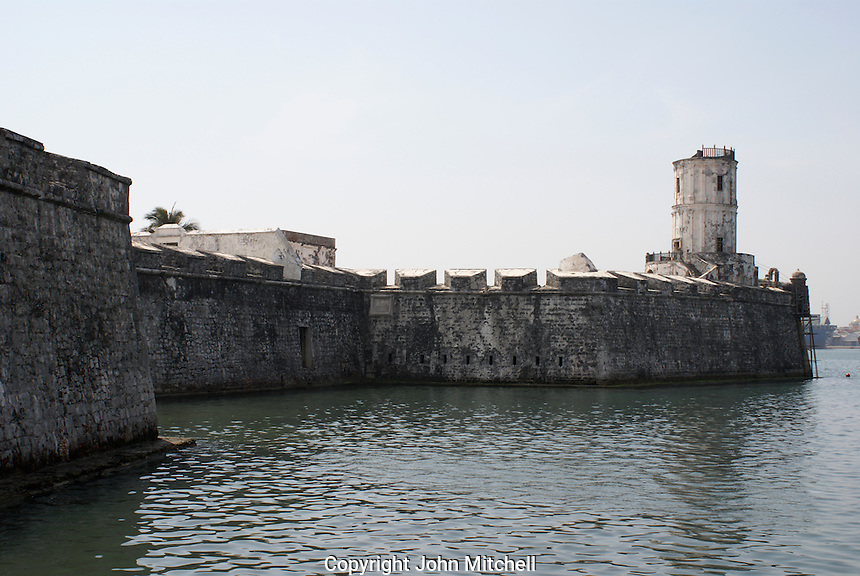 San Juan de Ulua fortress in the city of Veracruz, Mexico. This fort was built by the Spanish between 1552 and 1779 to protect Veracriz from pirates. It was used as a prison during the Porfirio Diaz regime.