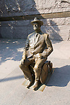 Washington DC; USA: The Franklin Delano Roosevelt Memorial. Sculpture of FDR in his wheelchair, as a disabled American.   .Photo copyright Lee Foster Photo # 14-washdc83252
