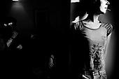 Wroclaw 11.2009 Poland<br /> Transsexual Marina Till.<br /> Marina Till, a transsexual, has had numerous medical examinations and treatments, such as a very intense hormonal therapy, at times seriously weakening her organism. For a long time she has been dreaming  about a sex change surgery that she can not afford. She does not accept herself and her body. Frequent suicide attempts and alcohol abuse, are means of escape from the body she lives in. A body that does not belong to her.<br /> Photo: Adam Lach / Napo Images<br /> <br /> Transseksualista Marina Till.<br /> Transseksualista Marina Till przeszla juz setki kuracji hormonalnych i badan psychoterapeutycznych, ktore w znaczny sposob wycienczyly jej organizm. Od wielu lat marzy o zmianie plci lecz najzwyczajniej nie stac ja na zbyt kosztowna operacje. Nie akceptuje siebie, nie akceptuje swojego ciala. Czeste proby samobojcze i znaczne ilosci alkoholu sa dla niej sposobem na ucieczke, przede wszystkim od swiadomosci ze cialo w ktorym zyje nie nalezy do niej.<br /> Fot: Adam Lach / Napo Images