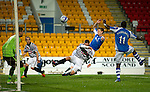 St Johnstone v Queens Park....25.09.12      Scottish Communities League Cup 3rd Round.Steven MacLean scores his first goal.Picture by Graeme Hart..Copyright Perthshire Picture Agency.Tel: 01738 623350  Mobile: 07990 594431