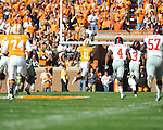 Tennessee wide receiver Justin Hunter (11) runs 80 yards on a touchdown catch in a college football game at Neyland Stadium in Knoxville, Tenn. on Saturday, November 13, 2010. Tennessee won 52-14.