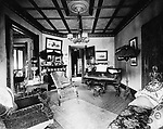 The interior of the Waterbury home of Dr. Clarence E. Gates in 1894. the home was located at 114 Willow Street. It later became known as the J.E. Russell house and then the funeral home of ex-mayor Raymond E. Snyder.