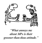 """""""What annoys me about MPs is their greener-than-thou attitude."""""""