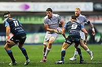 Charlie Ewels of Bath Rugby in possession. European Rugby Challenge Cup match, between Cardiff Blues and Bath Rugby on December 10, 2016 at the Cardiff Arms Park in Cardiff, Wales. Photo by: Patrick Khachfe / Onside Images