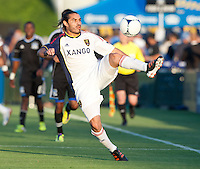 Santa Clara, California - Saturday July 14, 2012: Real Salt Lake's Fabian Espindola in action during  game against San Jose Earthquakes at Buck Shaw Stadium, Stanford, Ca     San Jose Earthquakes defeated Real Salt Lake 5 - 0...