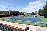 13 May 2016: A wide shot of the main courts at the Wake Forest Tennis Center. The Wake Forest University Demon Deacons hosted the Coastal Carolina University Chanticleers at the Wake Forest Tennis Center in Winston-Salem, North Carolina in a 2015-16 NCAA Division I Men's Tennis Tournament First Round match. Wake Forest won the match 4-0.