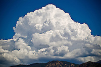 large cloud formation over Abiquiu, New Mexico