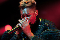 Skin (Deborah Anne Dyer) from Skunk Anansie live at Stimmen music festival in Lörrach, Germany, July 18, 2013. Photo: Miroslav Dakov