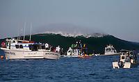 Half Moon Bay - Ca, Sunday, January 20, 2013: Over view of the 2013 Mavericks Invitational..