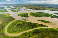 Yukon river in interior Alaska, near the town of Circle.