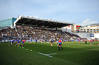 Bath Rugby players warm up prior to the match. European Rugby Champions Cup match, between RC Toulon and Bath Rugby on January 10, 2016 at the Stade Mayol in Toulon, France. Photo by: Patrick Khachfe / Onside Images