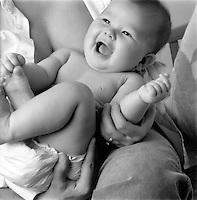Baby with happy expression