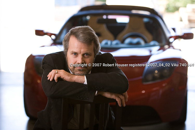 Martin Eberhard - CEO - Tesla Motors: Executive portrait photographs by San Francisco - corporate and annual report - photographer Robert Houser.