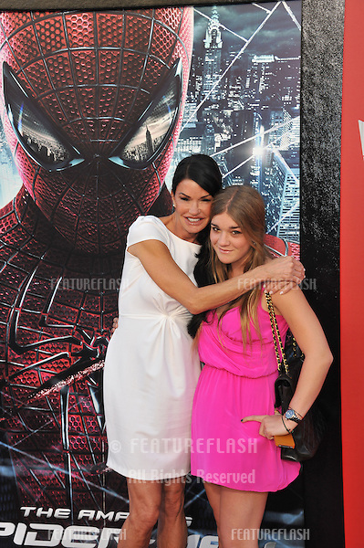 """Janice Dickinson & daughter at the world premiere of """"The Amazing Spider-Man"""" at Regency Village Theatre, Westwood..June 29, 2012  Los Angeles, CA.Picture: Paul Smith / Featureflash"""
