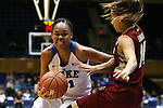 17 January 2016: Duke's Azura Stevens (11) and Boston College's Kailey Edwards (right). The Duke University Blue Devils hosted the Boston College Eagles at Cameron Indoor Stadium in Durham, North Carolina in a 2015-16 NCAA Division I Women's Basketball game. Duke won the game 71-51.