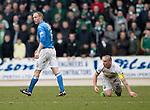 St Johnstone v Celtic.....14.02.15<br /> Steven Anderson walks away after fouling Scott Brown<br /> Picture by Graeme Hart.<br /> Copyright Perthshire Picture Agency<br /> Tel: 01738 623350  Mobile: 07990 594431