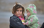 """Children in the village of Bakhtme, Iraq, which was flooded with displaced families when the Islamic State group took over nearby portions of the Nineveh Plains in 2014. The village hosts a """"child friendly space"""" sponsored by the Christian Aid Program Nohadra - Iraq (CAPNI)."""