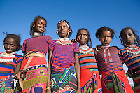 Primary school girls in a remote Ethiopian village