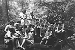 East McKeesport PA:  Boy and Girl Scouts listening to a scout leader's instructions - Camp Youghahela 1925