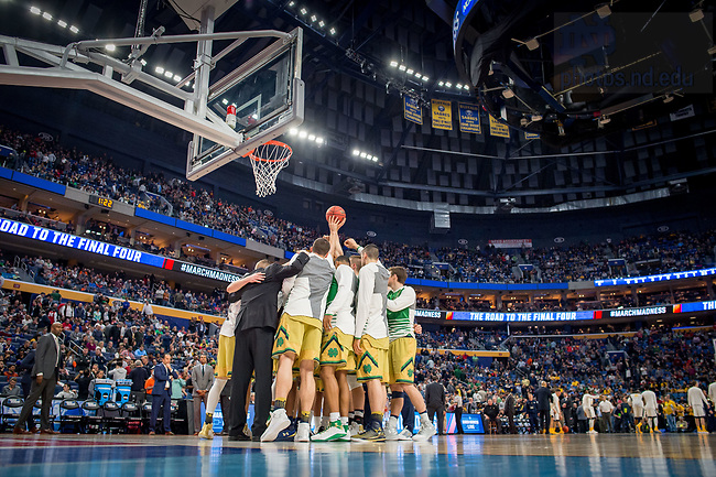 March 17, 2017; 2017 NCAA Tournament Round 2. (Photo by Matt Cashore/University of Notre Dame)