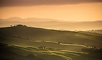 Sunset over Tuscan hills. (Photo by Travel Photographer Matt Considine)
