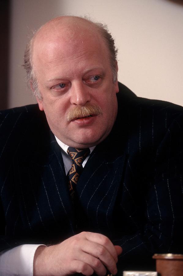 Moscow, Russia, 1997..Billionaire businessman Alexander Smolensky, Chairman of  Stolichny Bank.