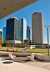 The Curtis Hixon Waterfront Park, with a view of downtown Tampa, Florida