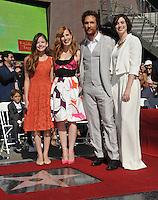 Matthew McConaughey Star Ceremony