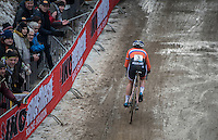 Marianne Vos (NED/WM3) leading the Women's Race<br /> <br /> UCI 2017 Cyclocross World Championships<br /> <br /> january 2017, Bieles/Luxemburg