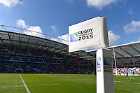 A general view of the Brighton Community Stadium prior to the match. Rugby World Cup Pool B match between Samoa and the USA on September 20, 2015 at the Brighton Community Stadium in Brighton, England. Photo by: Patrick Khachfe / Onside Images