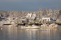 Snow Blankets Harbor, Bernard #S30
